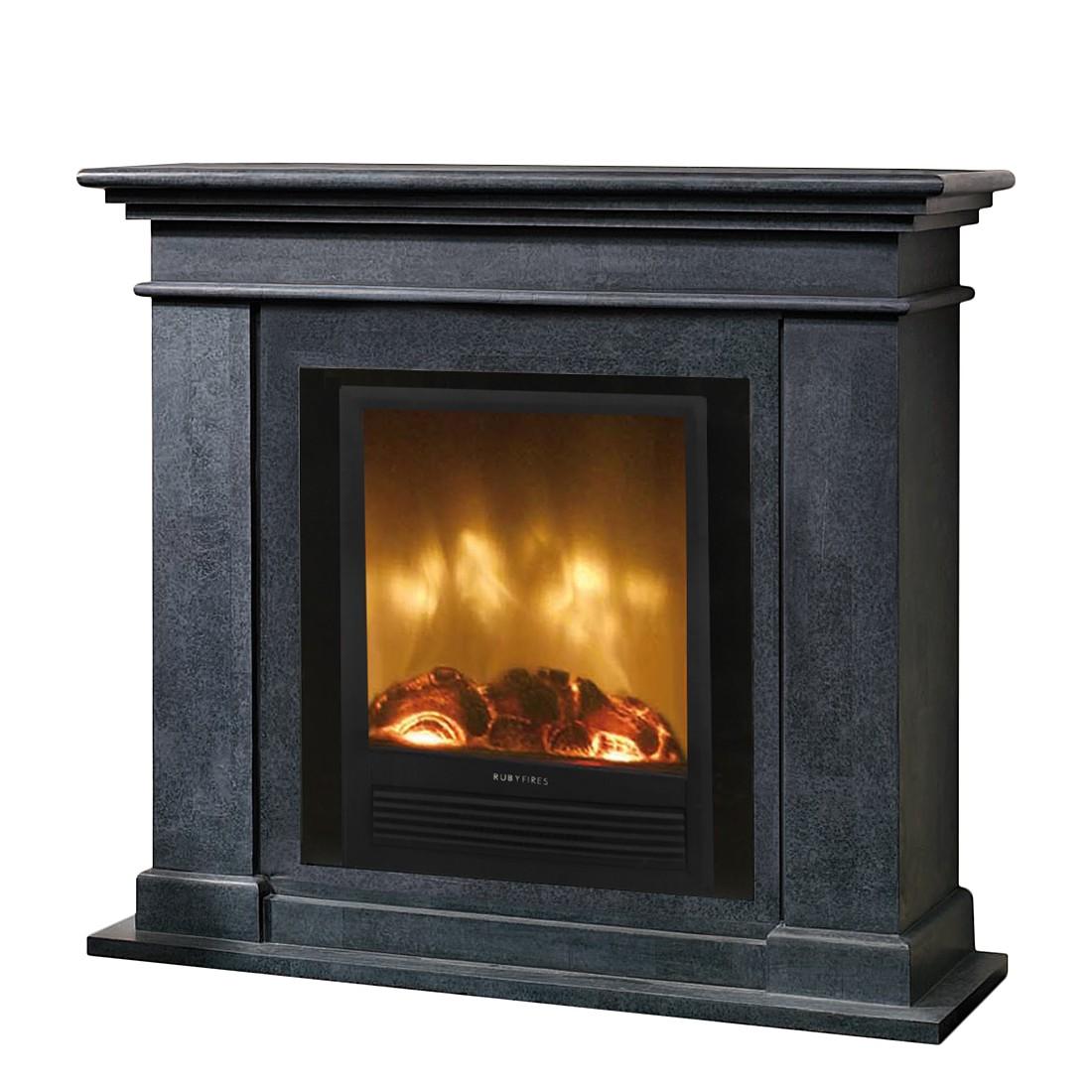 Home 24 - Eek a+, foyer électrique kos : avec chauffage, bouteille isothermetat et réglage de l intensité, ruby fires