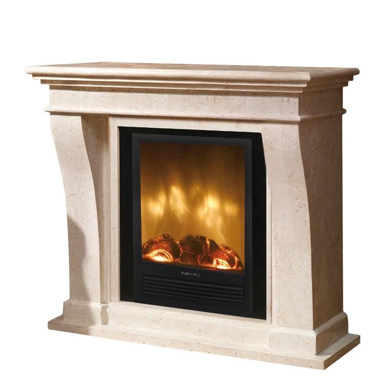 Home 24 - Eek a+, cheminée électrique kreta - insert mystic fires rf 20, ruby fires