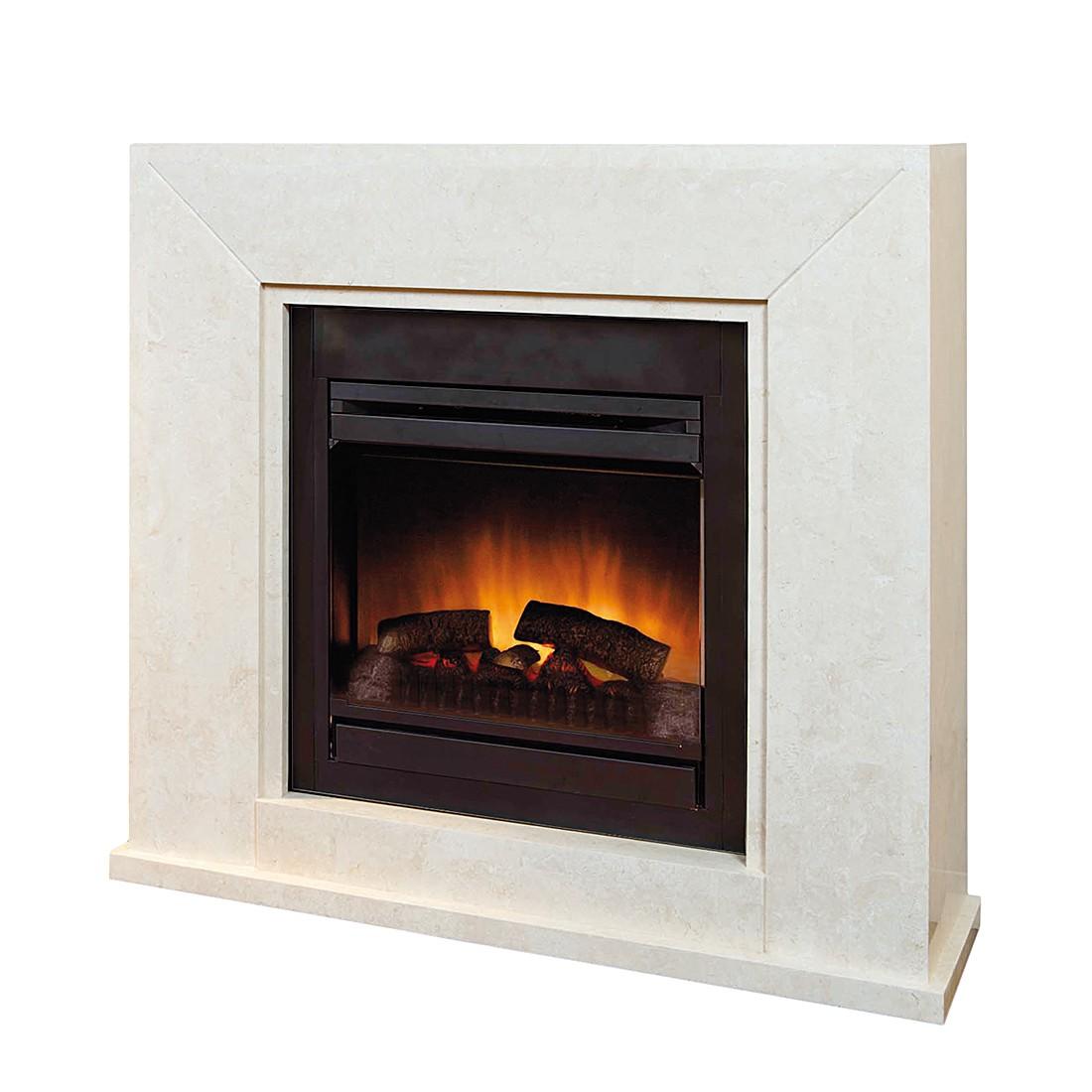 Home 24 - Eek a+, cheminée électrique nero : avec chauffage, commande à distance et fonction de gradation, ruby fires