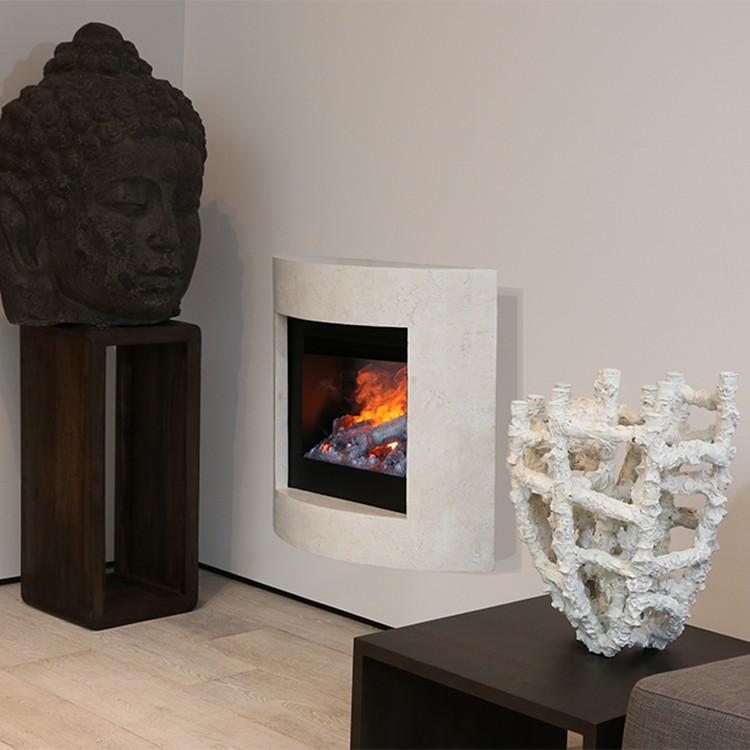 Home 24 - Cheminée électrique vano - blanc / crème, ruby fires