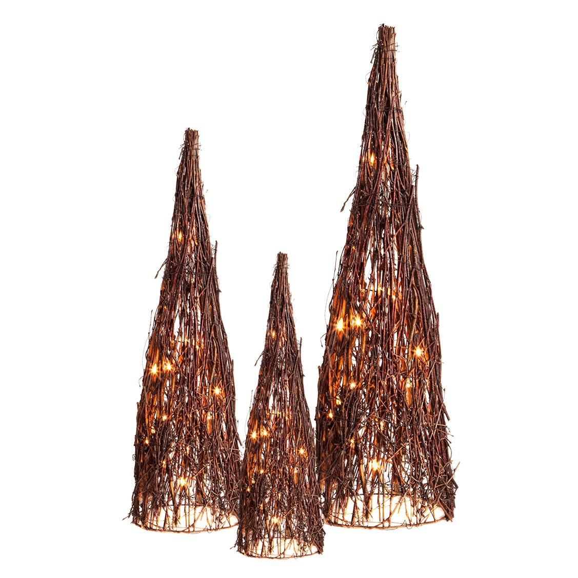 Lichtjesboom Ellie - 3-delige set berkenhout bruin, Home24 Deko