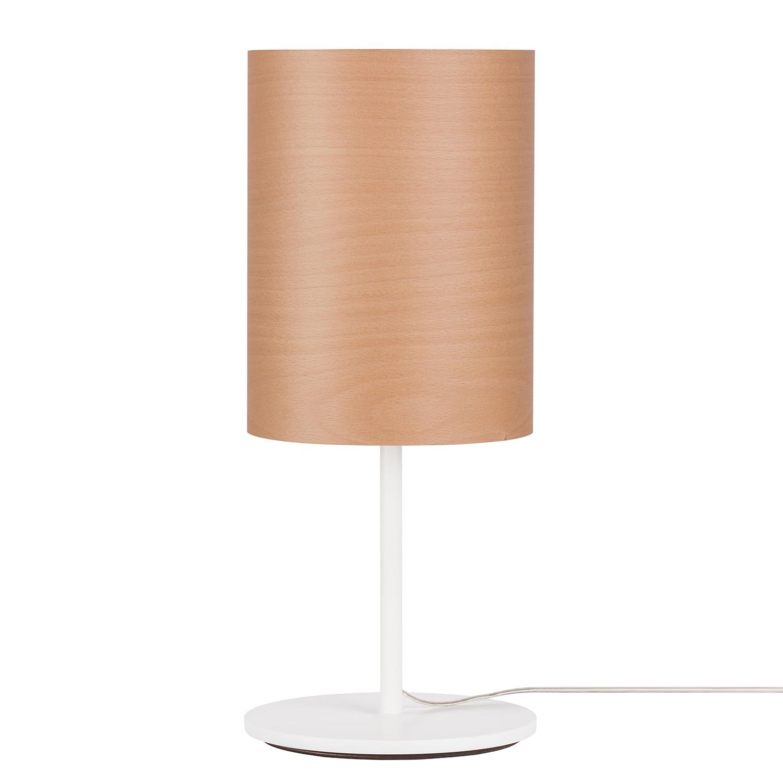 energie  A++, Tafellamp Veneli - 1 lichtbron - Beukenhoutkleurig/wit, Elobra