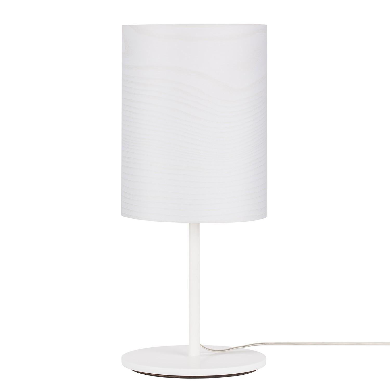 EEK A++, Lampe de table Veneli - 1 ampoule - Frêne blanc / Blanc, Elobra