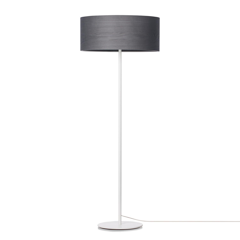 EEK A++, Stehleuchte Veneli - 3-flammig - Esche Anthrazit / Weiß bei Home24 - Lampen