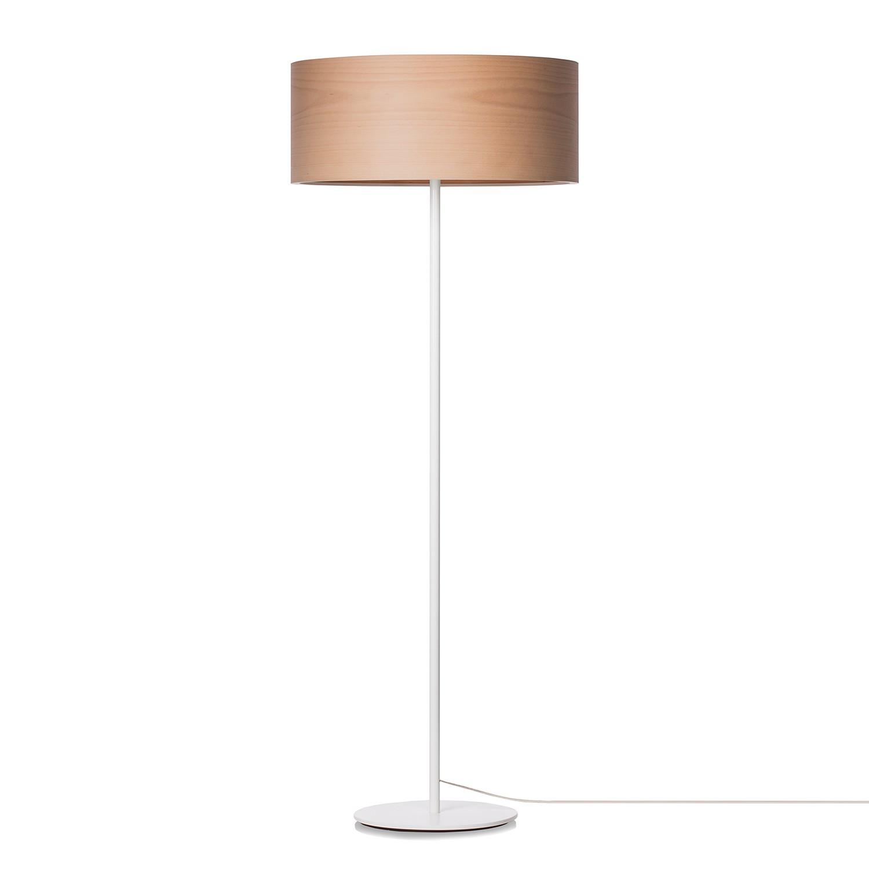 EEK A++, Stehleuchte Veneli - 3-flammig - Buche / Weiß, Elobra bei Home24 - Lampen