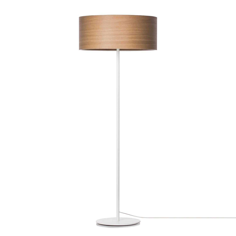 EEK A++, Stehleuchte Veneli - 3-flammig - Eiche / Weiß, Elobra bei Home24 - Lampen