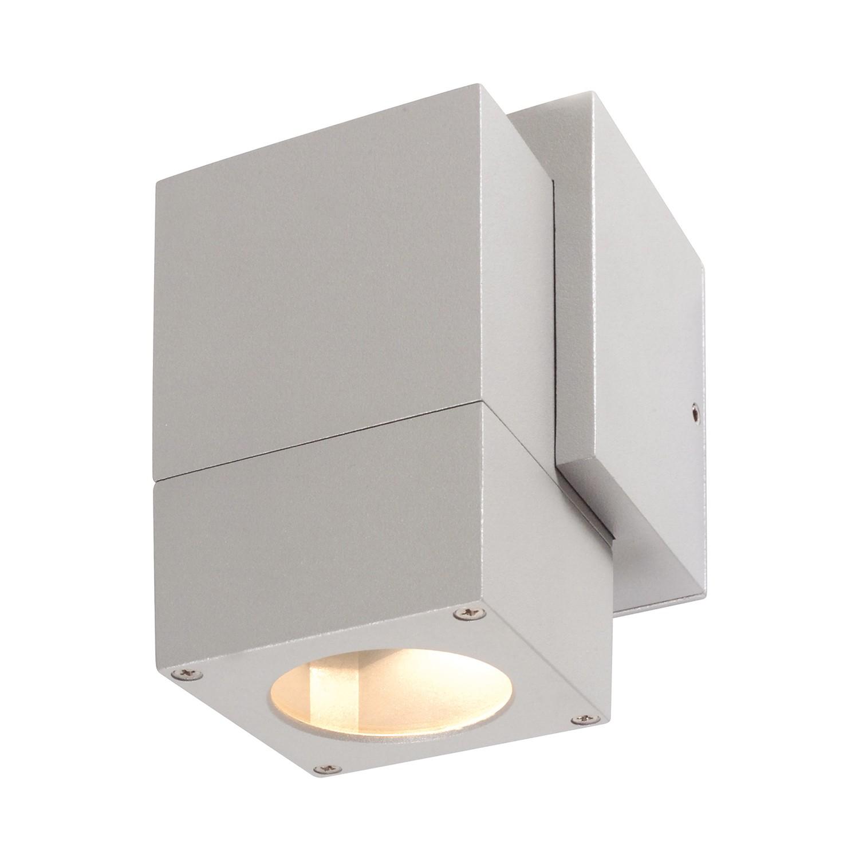 EEK A++, Energiespar-Außenwandleuchte II 1-flammig - Silber Aluminium, Näve