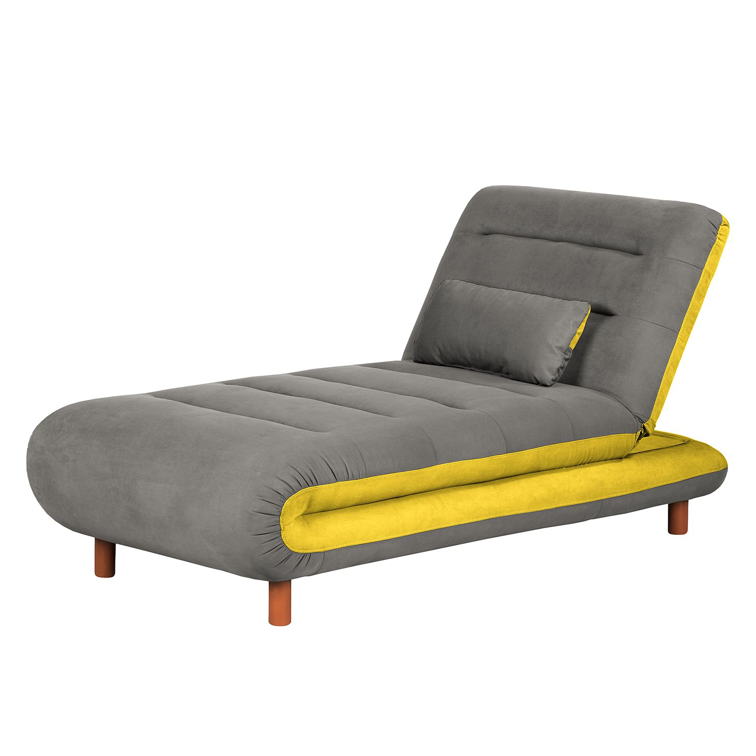 Chaiselongue Energy - Webstoff - Grau / Gelb, mooved kaufen on chaise recliner chair, chaise sofa sleeper, chaise furniture,