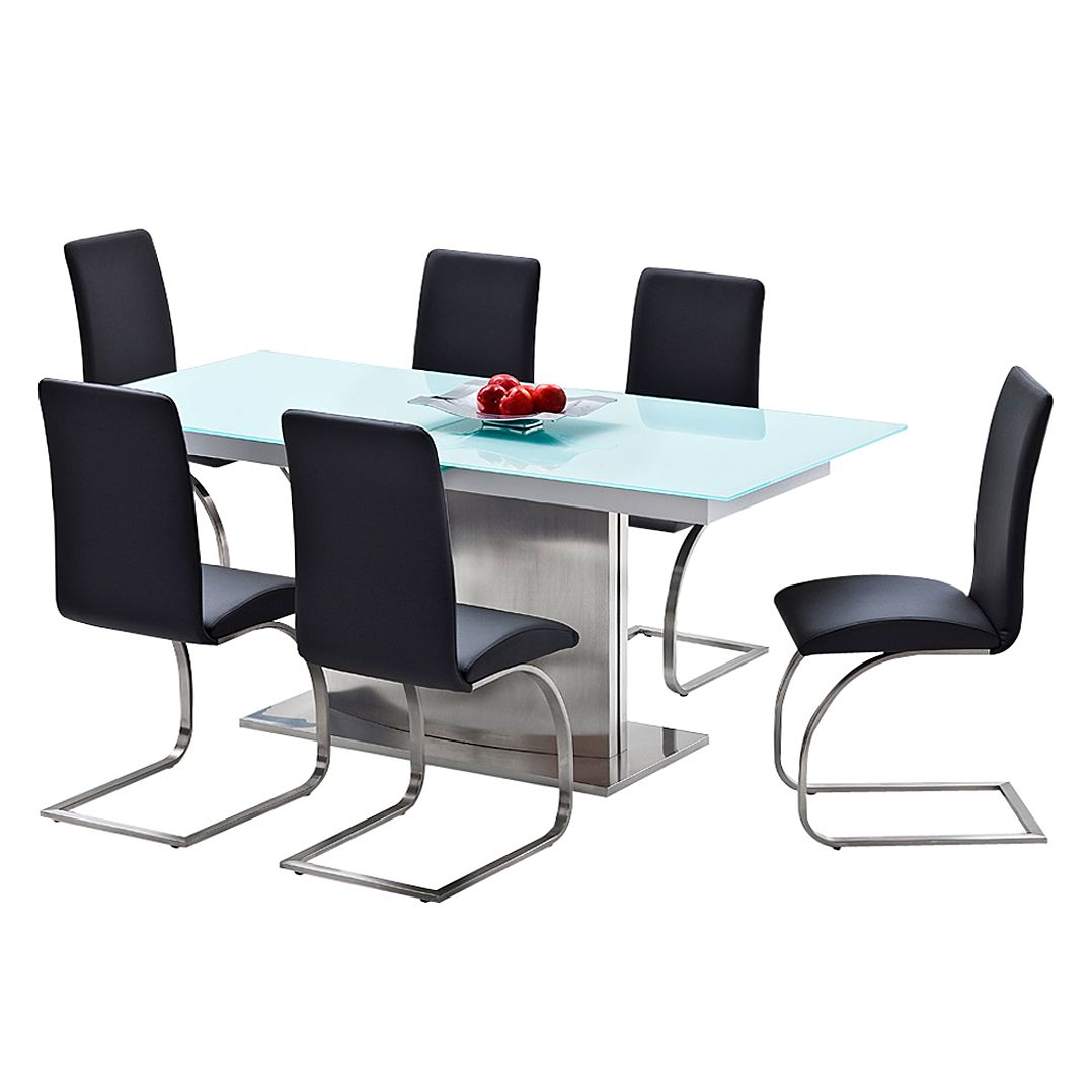 Home 24 - Ensemble de salle à manger amalia (7 éléments), bellinzona