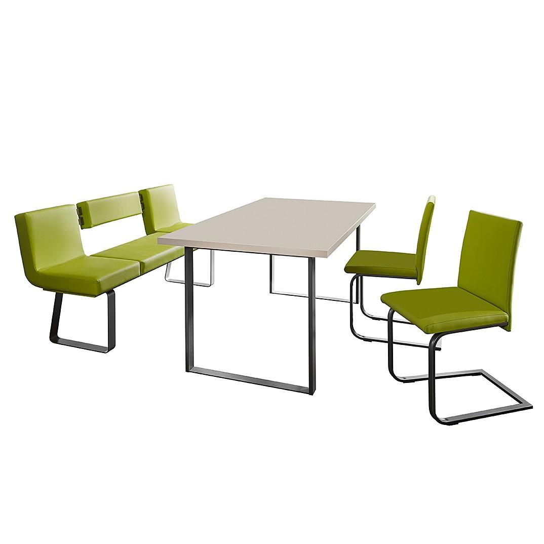 Home 24 - Ensemble table et chaises chacigo (4 éléments) - vert / acier inoxydable, loftscape