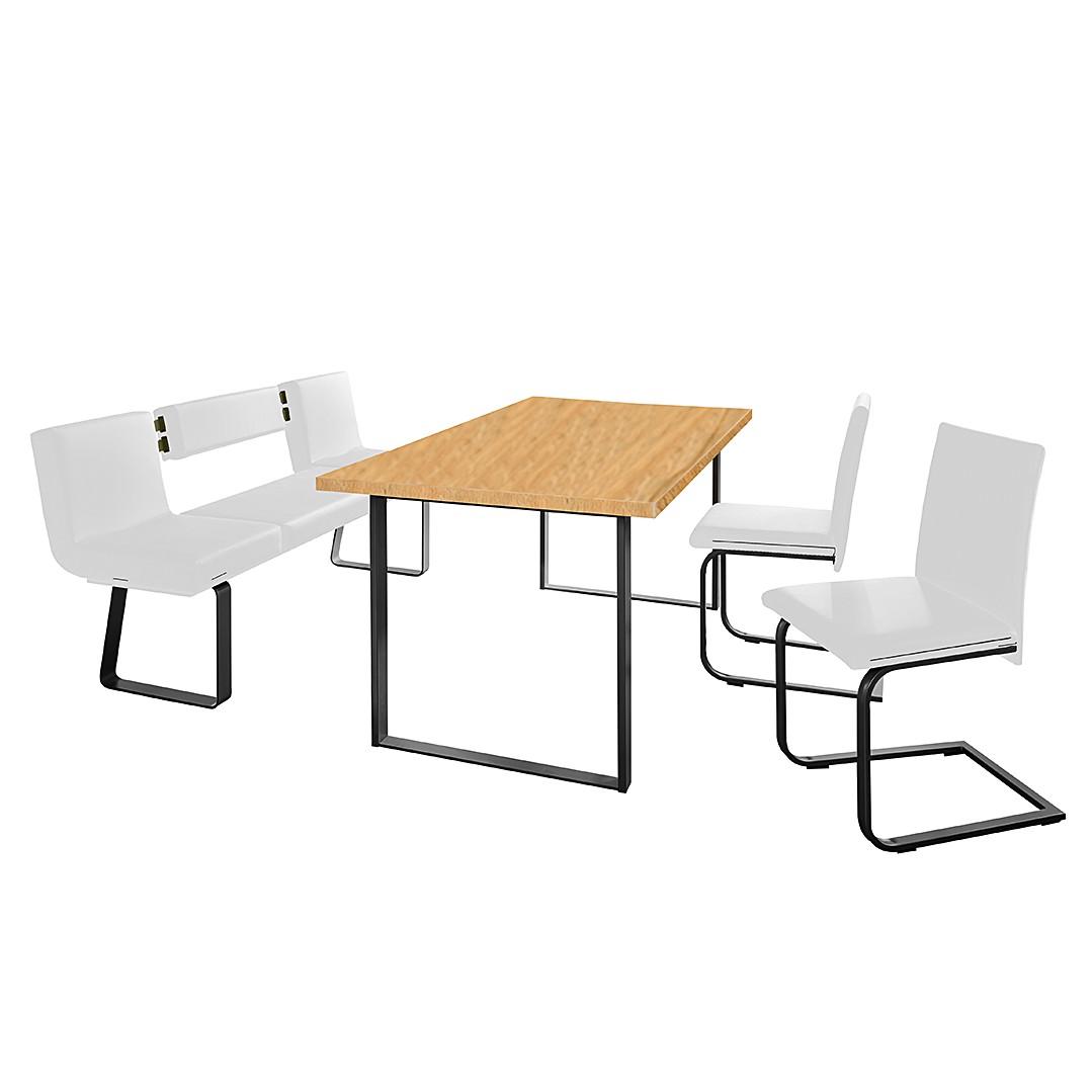 Home 24 - Ensemble table et chaises chacigo (4 éléments) - blanc / noir / imitation duramen de hêtre, loftscape