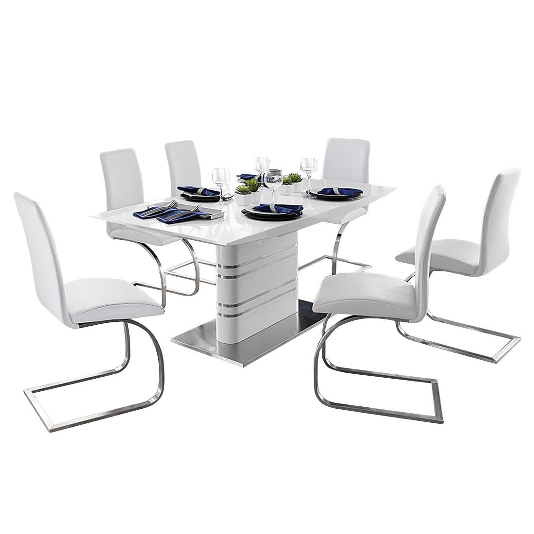 Home 24 - Ensemble de salle à manger modus - avec table à manger et 6 chaises cantilever, fredriks