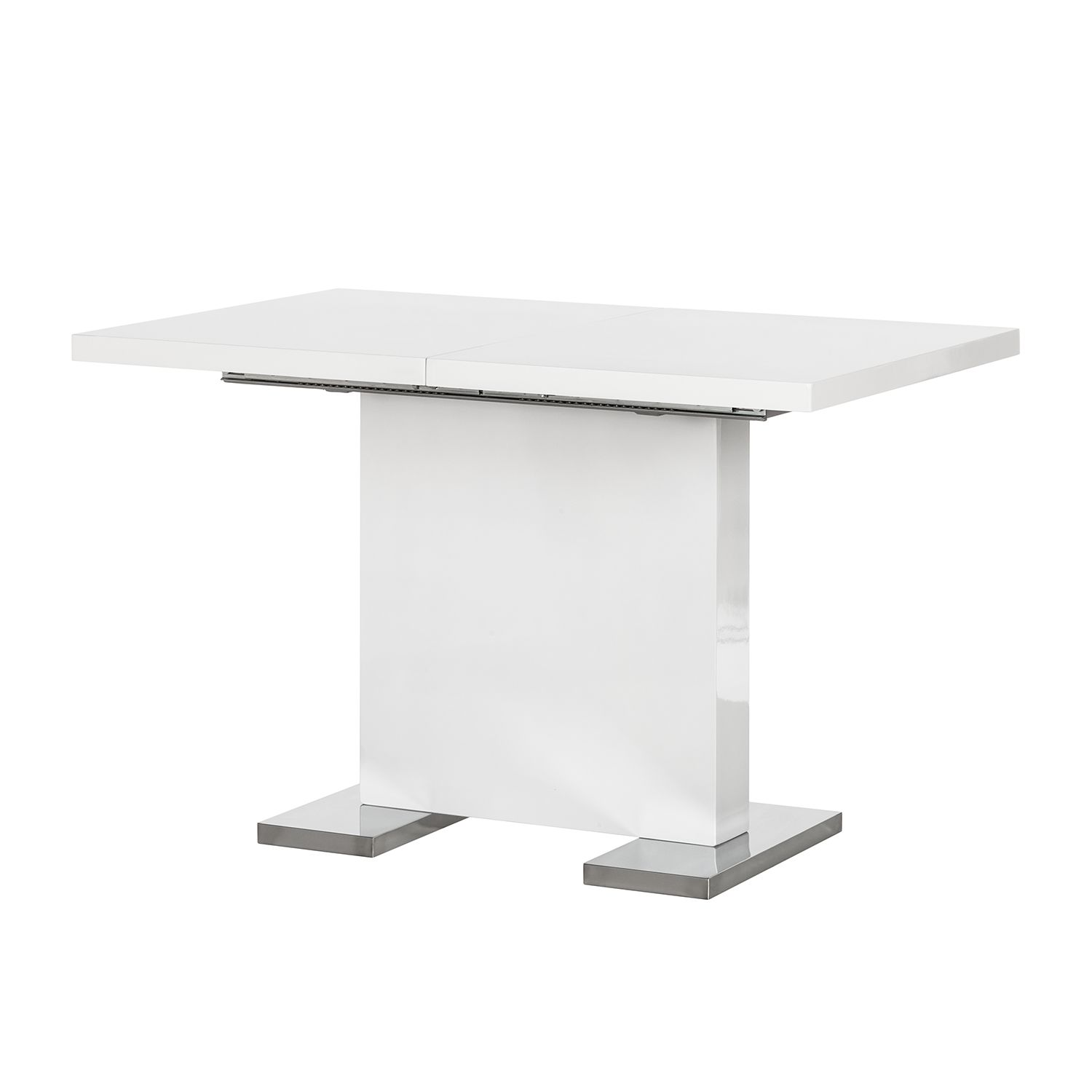 Table à manger Anne (extensible) - Blanc brillant, loftscape