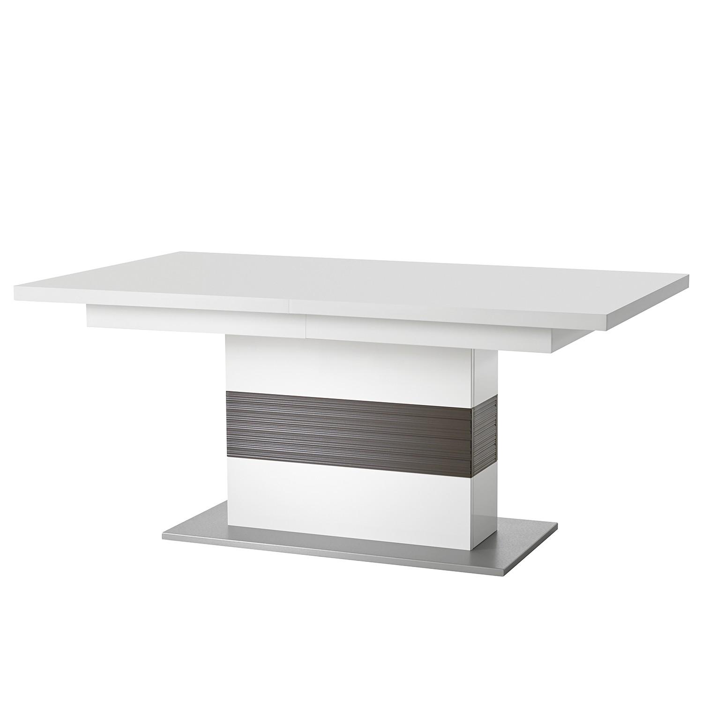 Eettafel Kushiro (met uitschuiffunctie) - wit/grijs, loftscape