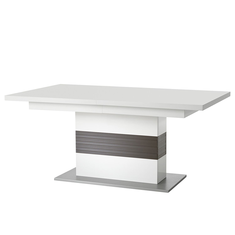 Table à manger Kushiro (extractible) - Blanc / Gris, loftscape