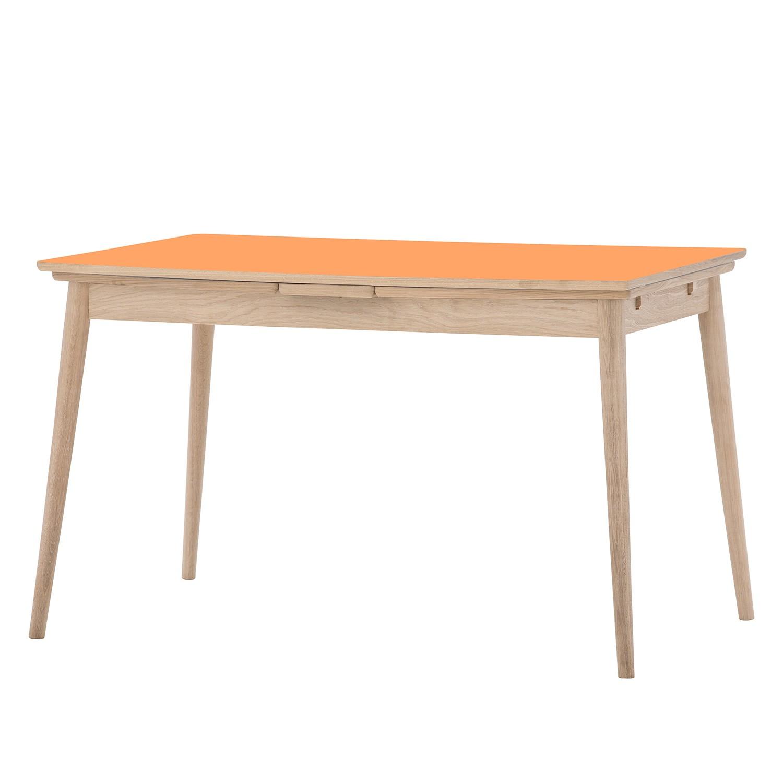 Esstisch Arvid (mit Ausziehfunktion) - Eiche teilmassiv - Orange / Eiche
