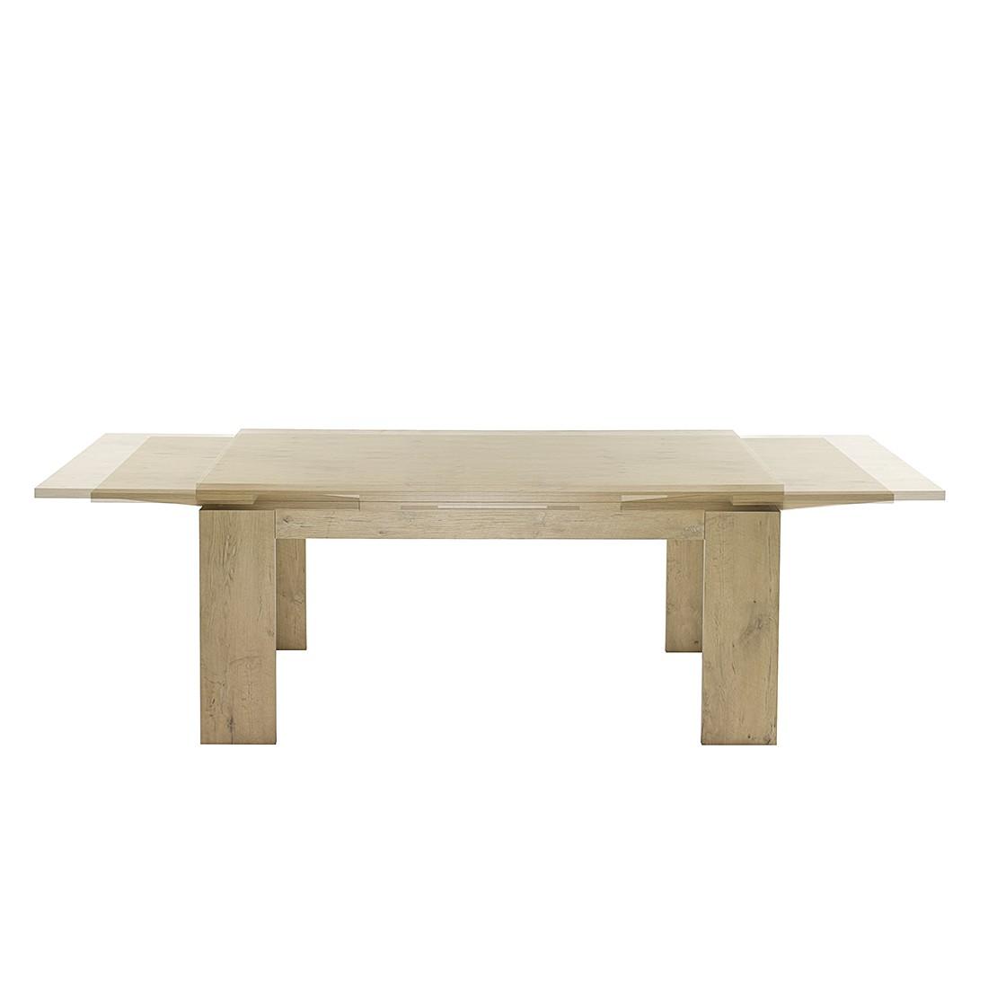 Table de salle à manger Leaf II (avec rallonge) - Imitation chêne brut de sciage - Imitation chêne b
