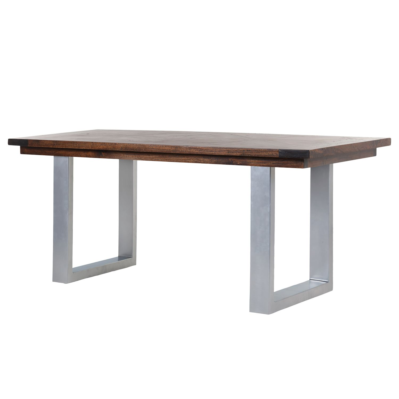 Table à manger Camibar I - Manguier massif / Métal - Manguier / Argenté, Ars Natura