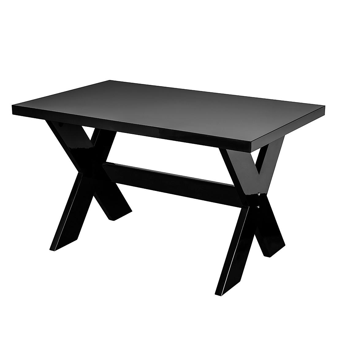 Esstisch schwarz hochglanz design for Esstisch schwarz hochglanz