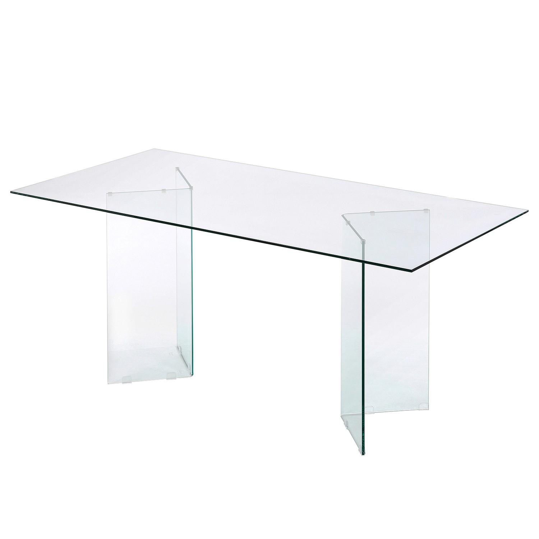 Table à manger Drap - Verre, Fredriks