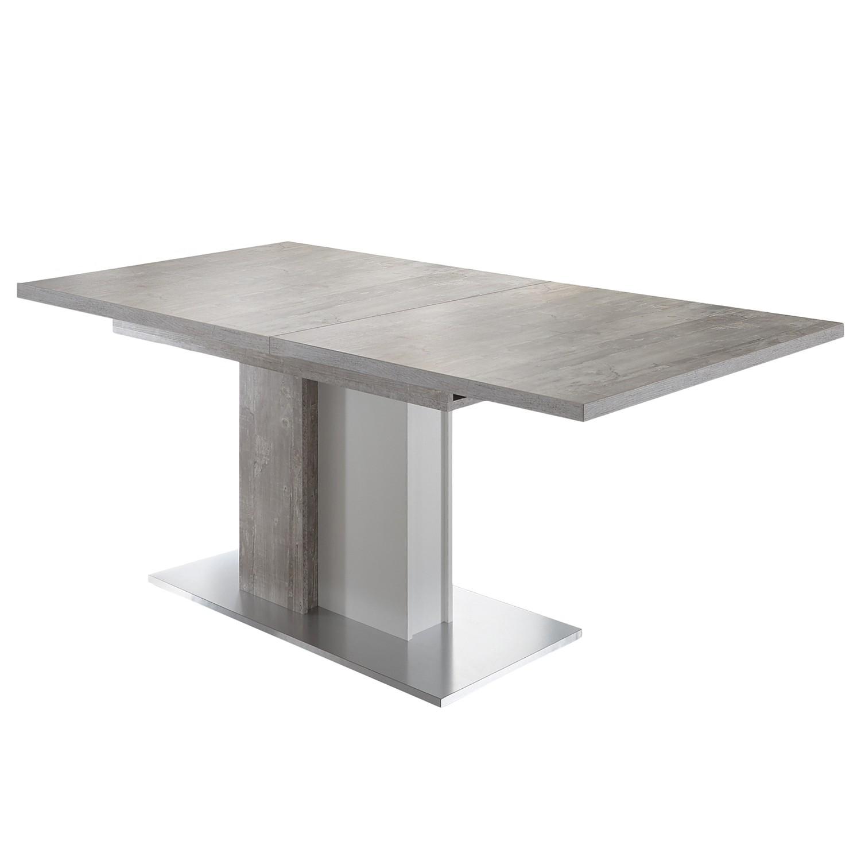 Table manger entremont avec rallonge imitation b ton for Table exterieur imitation beton