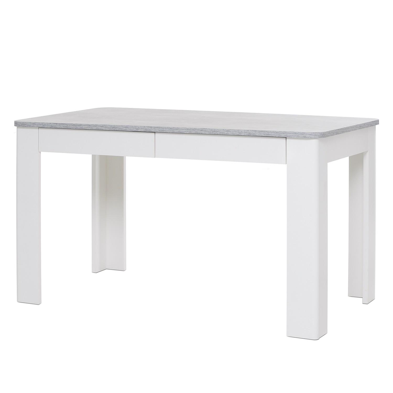 Eettafel Felin II - Concrete look/Wit, mooved