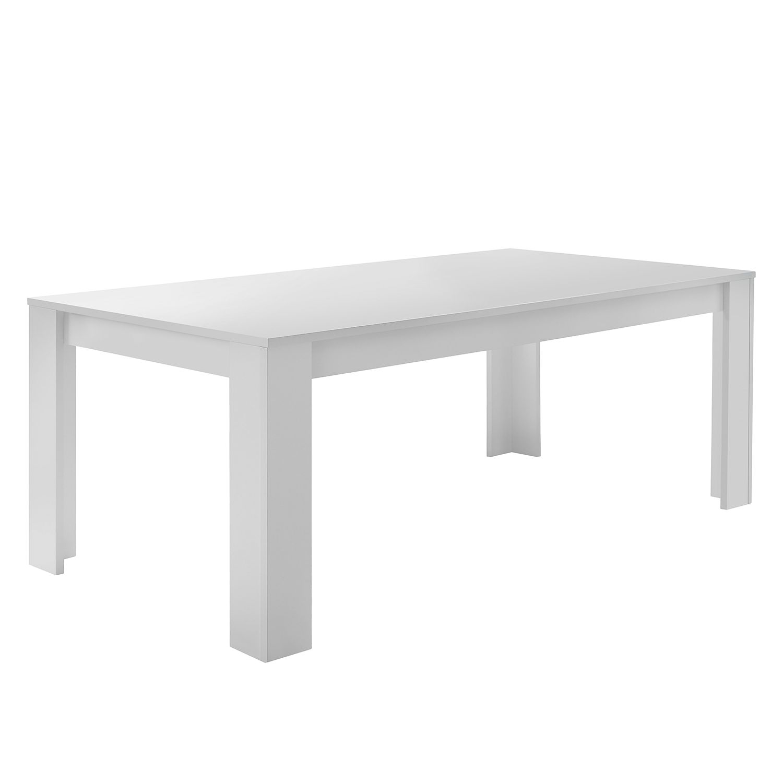 Table à manger Forenza - Blanc mat - 180 x 90 cm, Lc Mobili