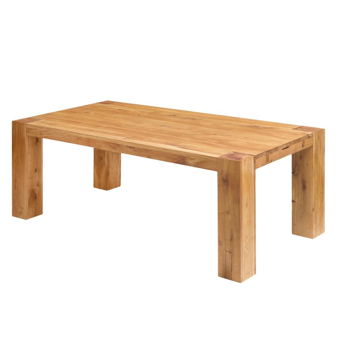Table à manger George - Chêne massif - Chêne - 140 x 100 cm, Ars Natura