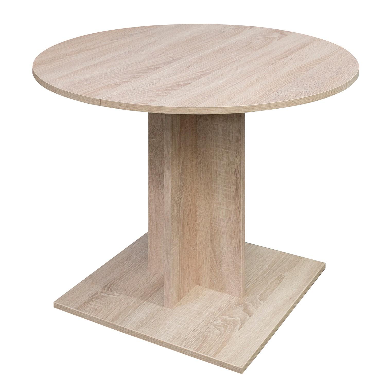Table à manger Grays (avec rallonge) - Imitation chêne brut de sciage, mooved