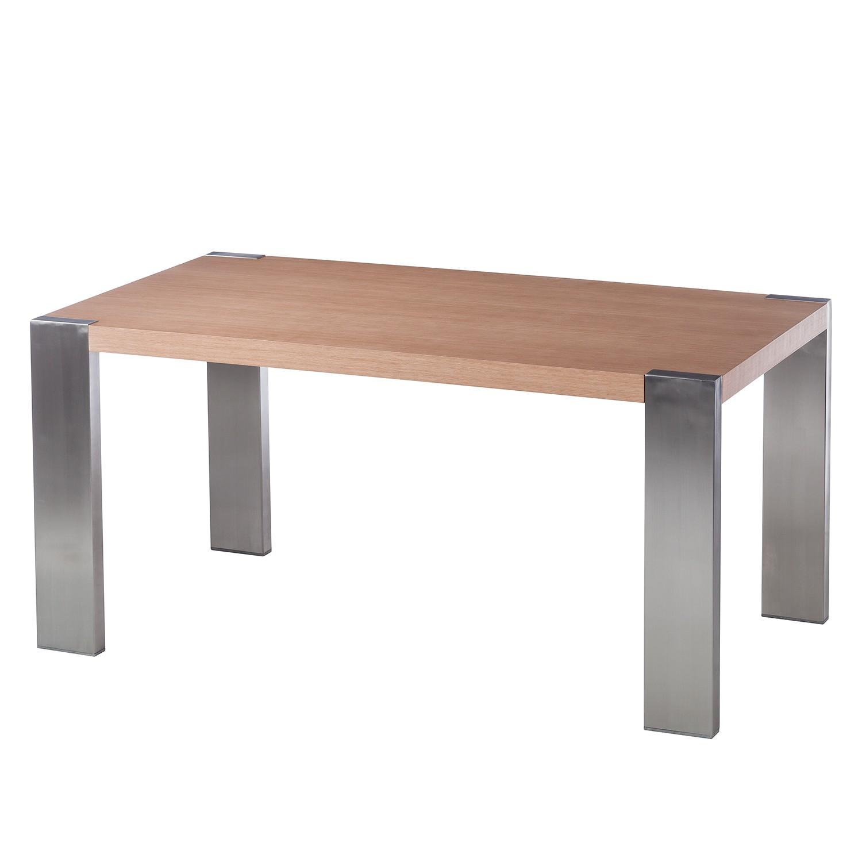 Table à manger Gustave - Chêne / Acier inoxydable, Fredriks