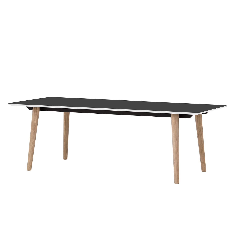 Table à manger Helvig I - Chêne partiellement massif - Anthracite / Chêne - 170 x 95 cm, Studio Cope