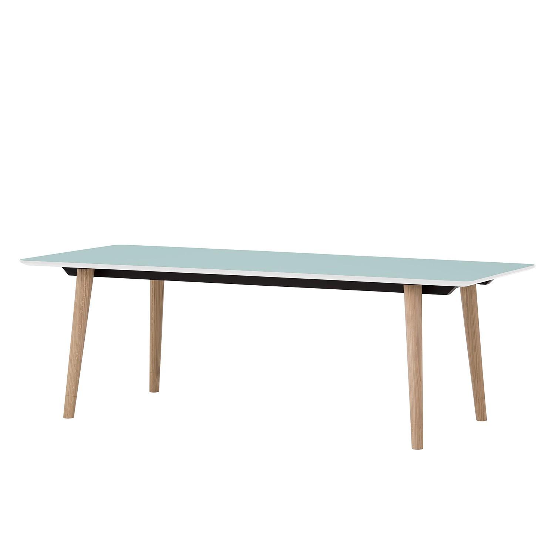 esstisch helvig i eiche teilmassiv hellblau eiche 220 x 95 cm g nstig online kaufen. Black Bedroom Furniture Sets. Home Design Ideas