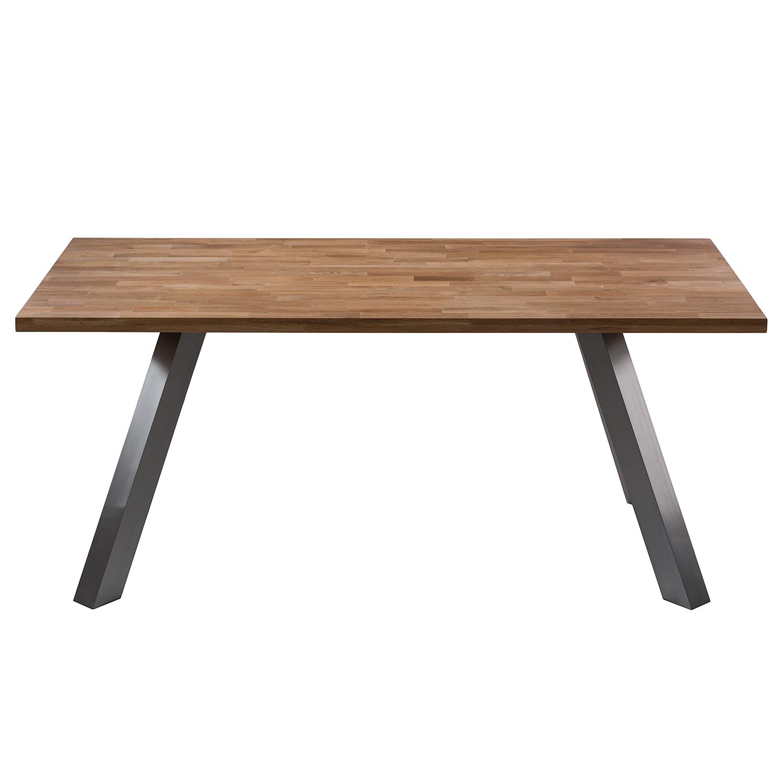 esstisch massiv edelstahl simple massivholz esstisch. Black Bedroom Furniture Sets. Home Design Ideas