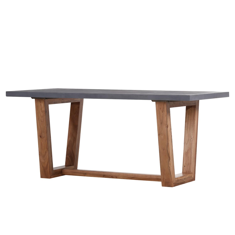 Table à manger Jobrin - Acacia massif / Résine synthétique - Acacia / Gris ciment, ars manufacti
