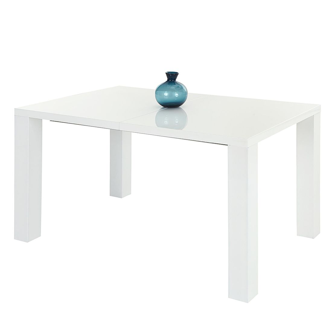 Table de salle à manger Jolina (avec rallonge) - Blanc brillant - 160 / 200 x 90 cm, Home Design