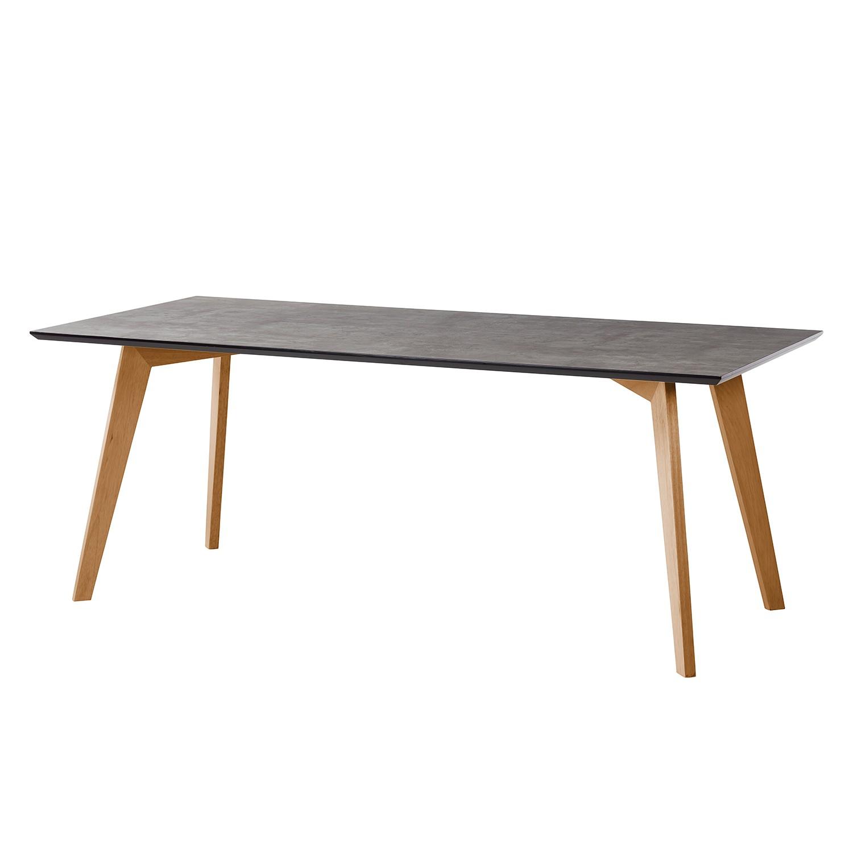 Table à manger Karay - Caoutchouc massif - Imitation béton / Caoutchouc, Morteens