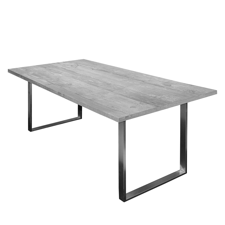 Table à manger Leaf I - Imitation béton - 180 x 90 cm, mooved