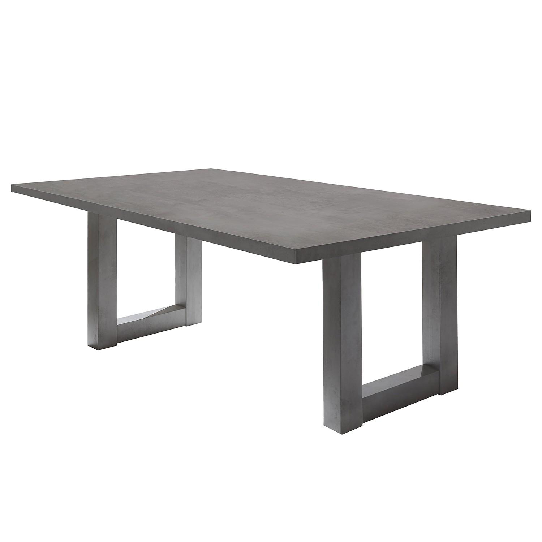Table à manger Leeton II - Graphite - 200 x 100 cm, mooved