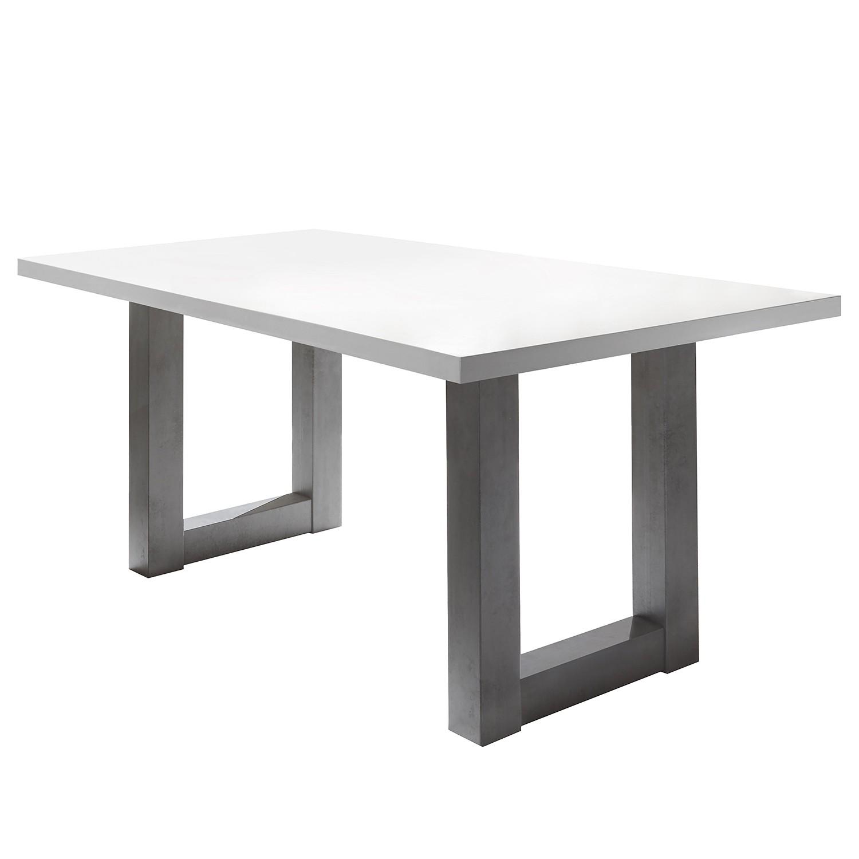 Table à manger Leeton II - Blanc mat - 160 x 90 cm, mooved