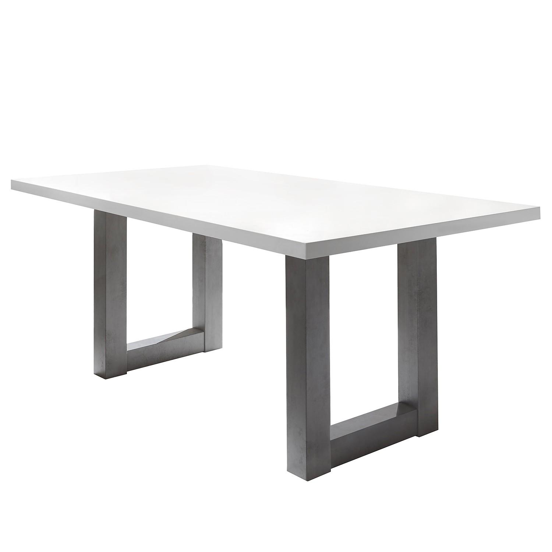 Table à manger Leeton II - Blanc mat - 180 x 90 cm, mooved