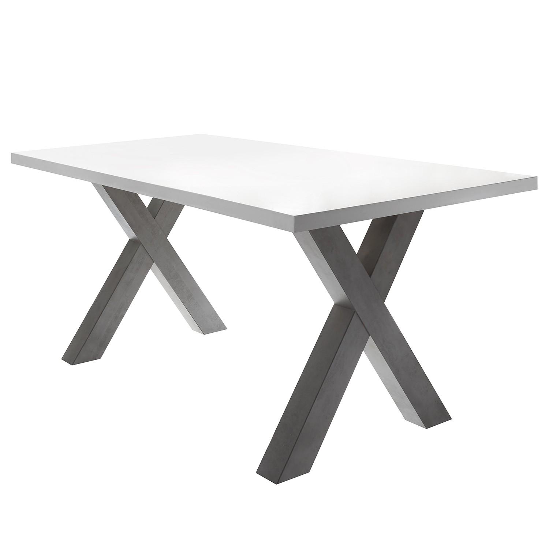 Table à manger Leeton III - Blanc mat - 160 x 90 cm, mooved