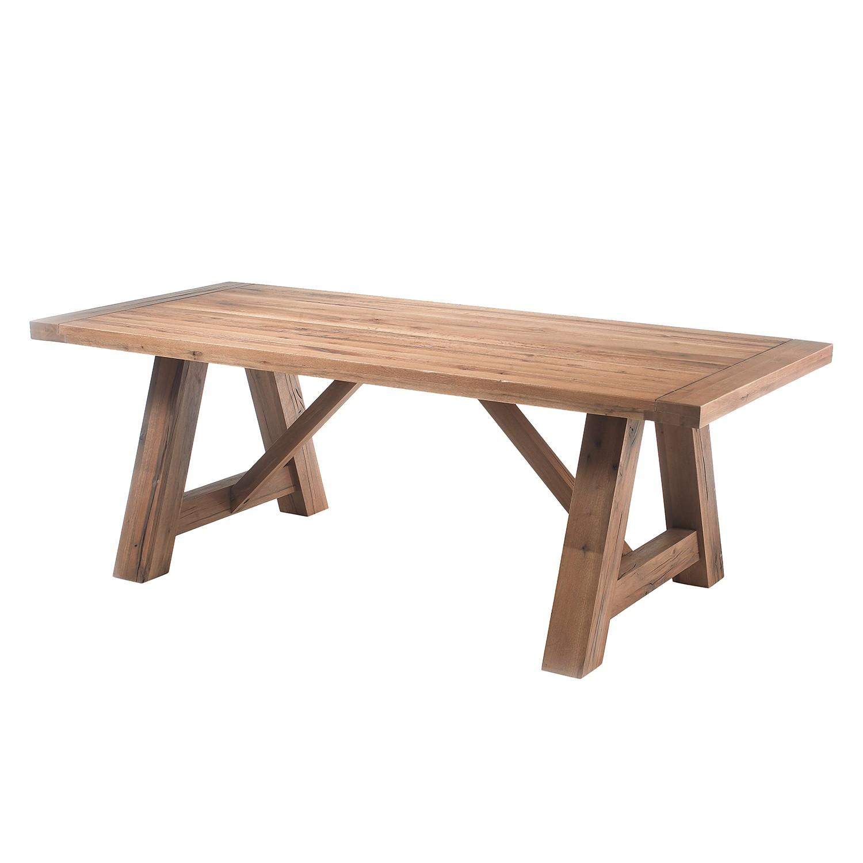 Table à manger Lestad - Chêne sauvage - 220 x 100 cm, Ars Natura