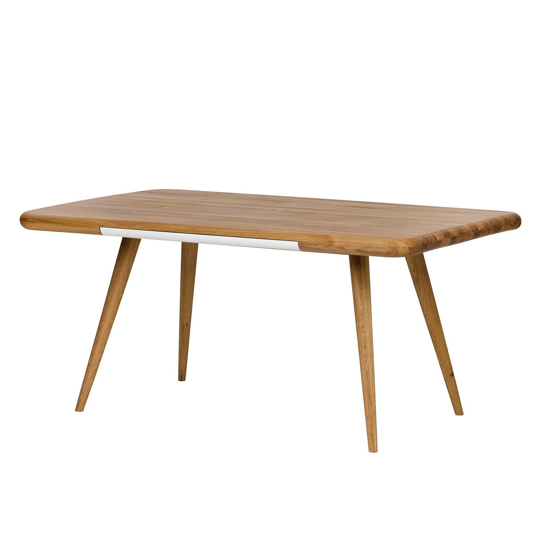 Table à manger Loca I - Chêne partiellement massif - Chêne / Blanc - 140 x 100 cm, Studio Copenhagen