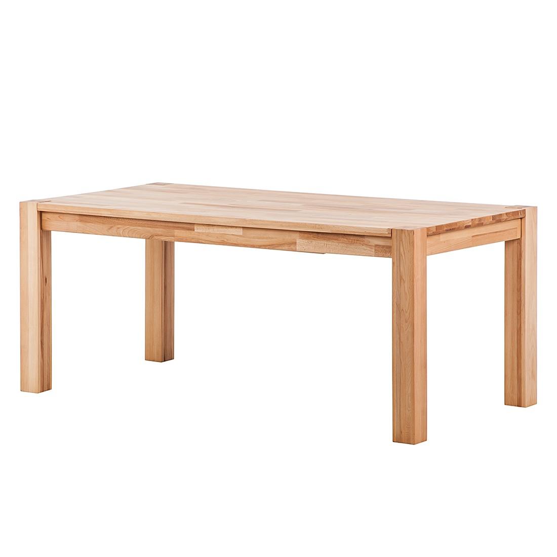Table à manger RichWOOD (avec rallonge) - Duramen de hêtre massif - 180 x 90 cm, Ars Natura