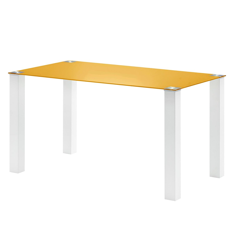 Tavolo da pranzo Monty II - Giallo oro - 140 x 80 cm, roomscape