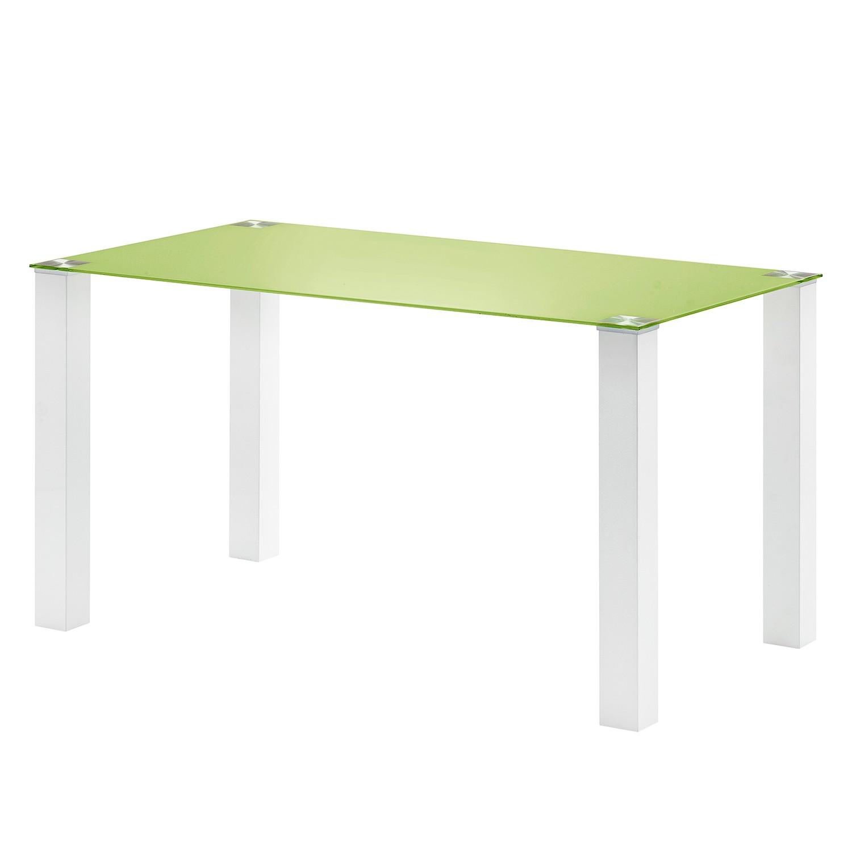 Table à manger Monty II - Vert clair - 140 x 80 cm, roomscape
