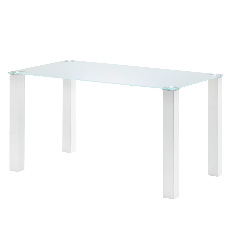 Table à manger Monty II - Blanc - 140 x 80 cm, roomscape