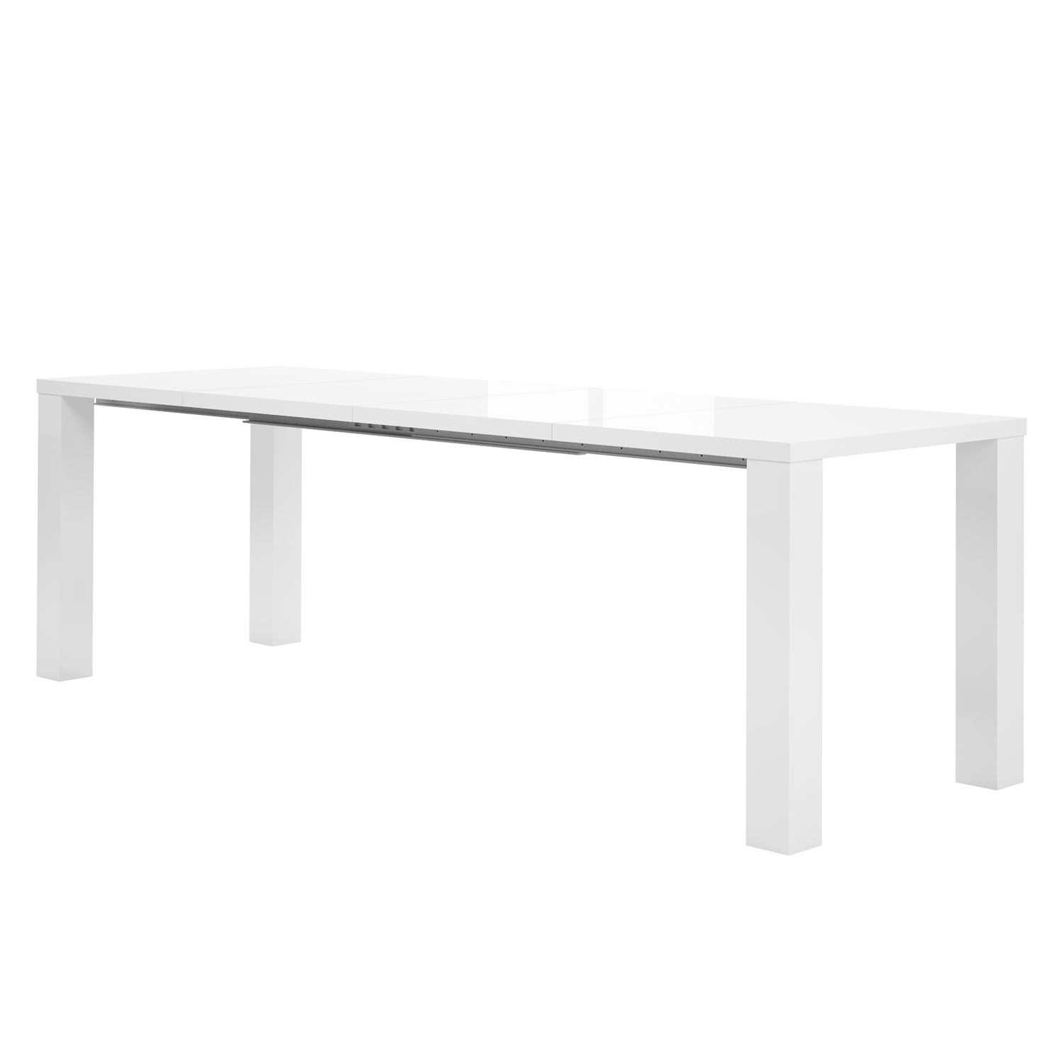 Table à manger Motion (extensible) - Blanc brillant, loftscape