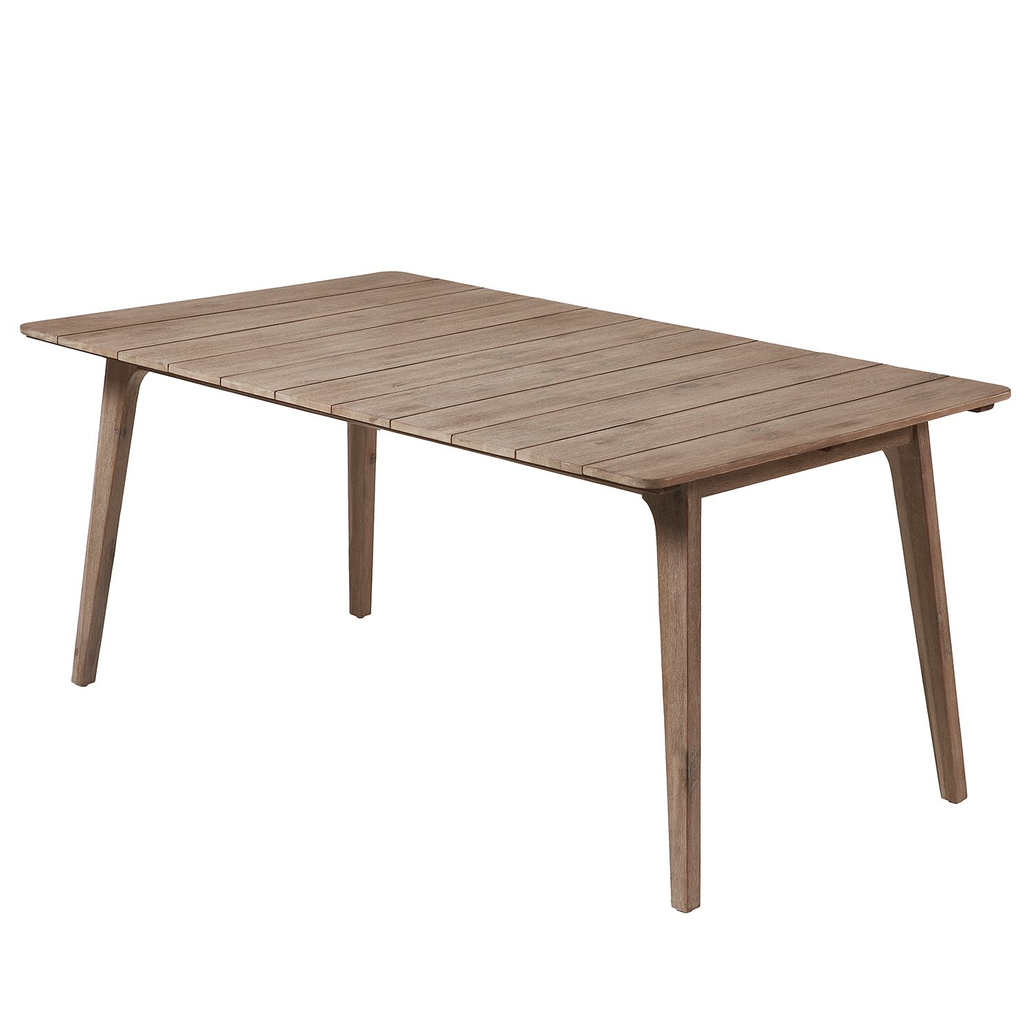 Table à manger Rozzano - Acacia massif - Acacia marron - 175 x 90 cm, Morteens