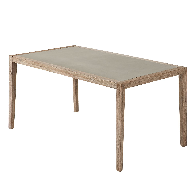 Eettafel Palestro - steen/massief acaciahout - 160x90cm, Ars Natura